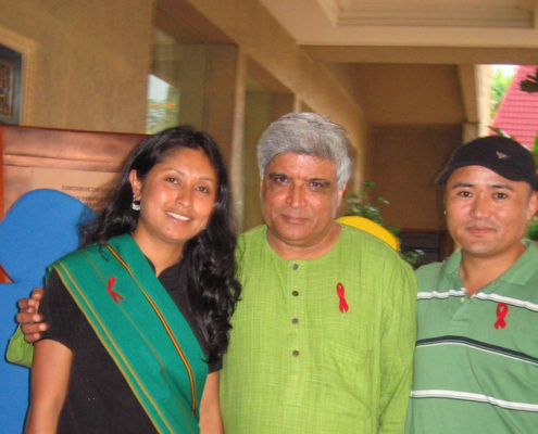 With noted Poet, Lyricist and Screenwriter - Javed Akhtar
