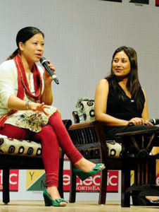 Hasina with Mary Kom at Young Leaders Connect