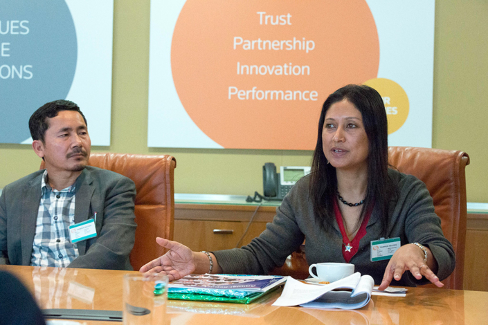 26/10/2016, London: Speaking at a Conference at Thomson Reuters Foundation