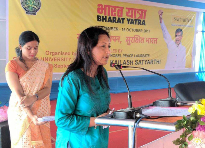22/09/2017, Guwahati: Speaking at the Bharat Yatra campaign to Make India Safe for Children