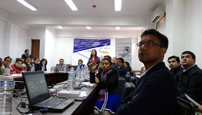 20/11/2016, Nepal: Addressing a demonstration of the ICIC Software at Kathmandu ??