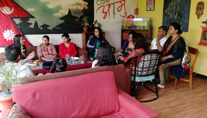15/06/2018, Nepal: Speaking at a Meeting with the Partners for the GESI Livelihood Assessment