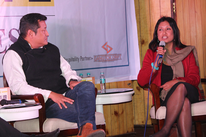 """27/02/2017, Sikkim: Addressing a Press conference """"In conversation with Sikkim"""