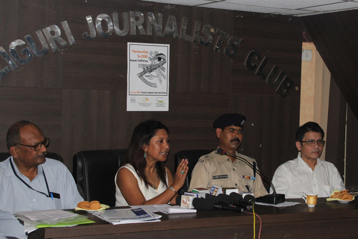 18/09/2016, West Bengal: Addressing a Press Conference at Siliguri