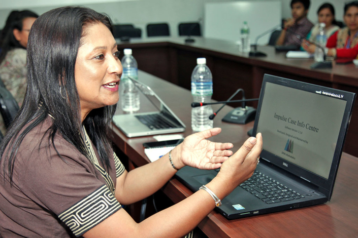 22/06/2018, Nepal: Speaking on Impulse Case Info Centre Software at Ministry of Women Child & Social Welfare