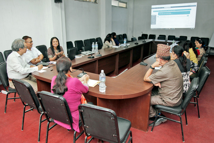 22/06/2018, Nepal: Speaking on the Impulse Case Info Centre Software, at Ministry of Women Child & Social Welfare