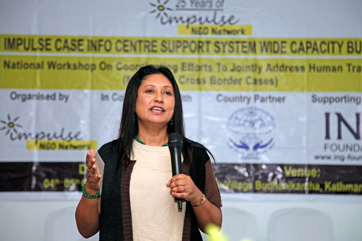 05/10/2018, Nepal: Speaking at the National Workshop on coordinating efforts to address Human Trafficking, organized by Institute of Human Rights Communication Nepal (IHRICON)