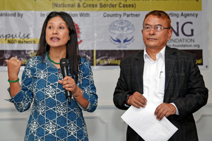 6844f 05/10/2018, Nepal: Speaking at the National Workshop on coordinating efforts to jointly address Human Trafficking