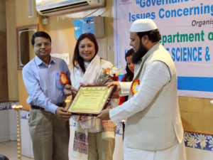 World Social Work Day, 2017 - Award for Hasina Kharbhih