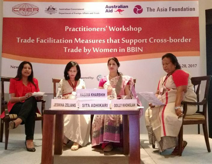 27/04/17 New Delhi: Practitioners Workshop for Cross Border Trade by BBIN Women