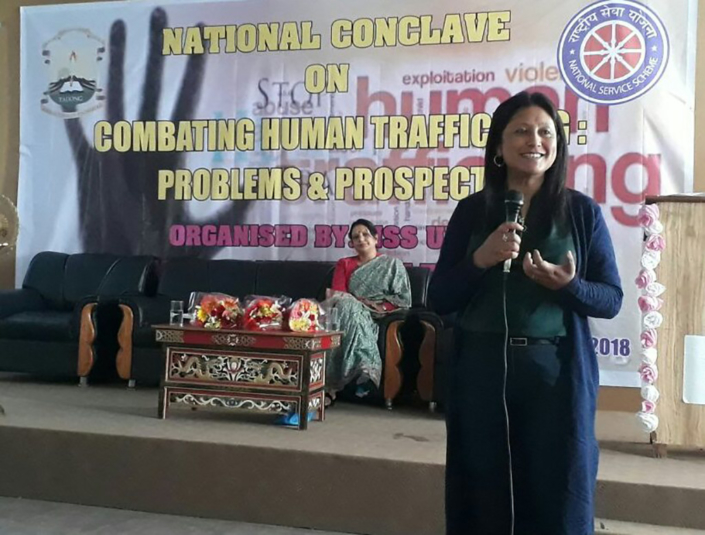 26/03/2017, Sikkim: Speaking on the Impulse Model, at the National Conclave on Combating Human Trafficking