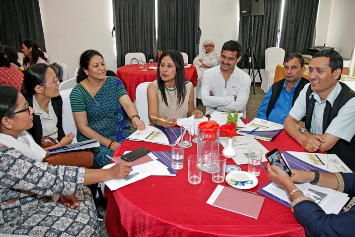 05/10/2018, Nepal: Speaking during a Focused Group Discussion after the National Workshop on coordinating efforts to address Human Trafficking